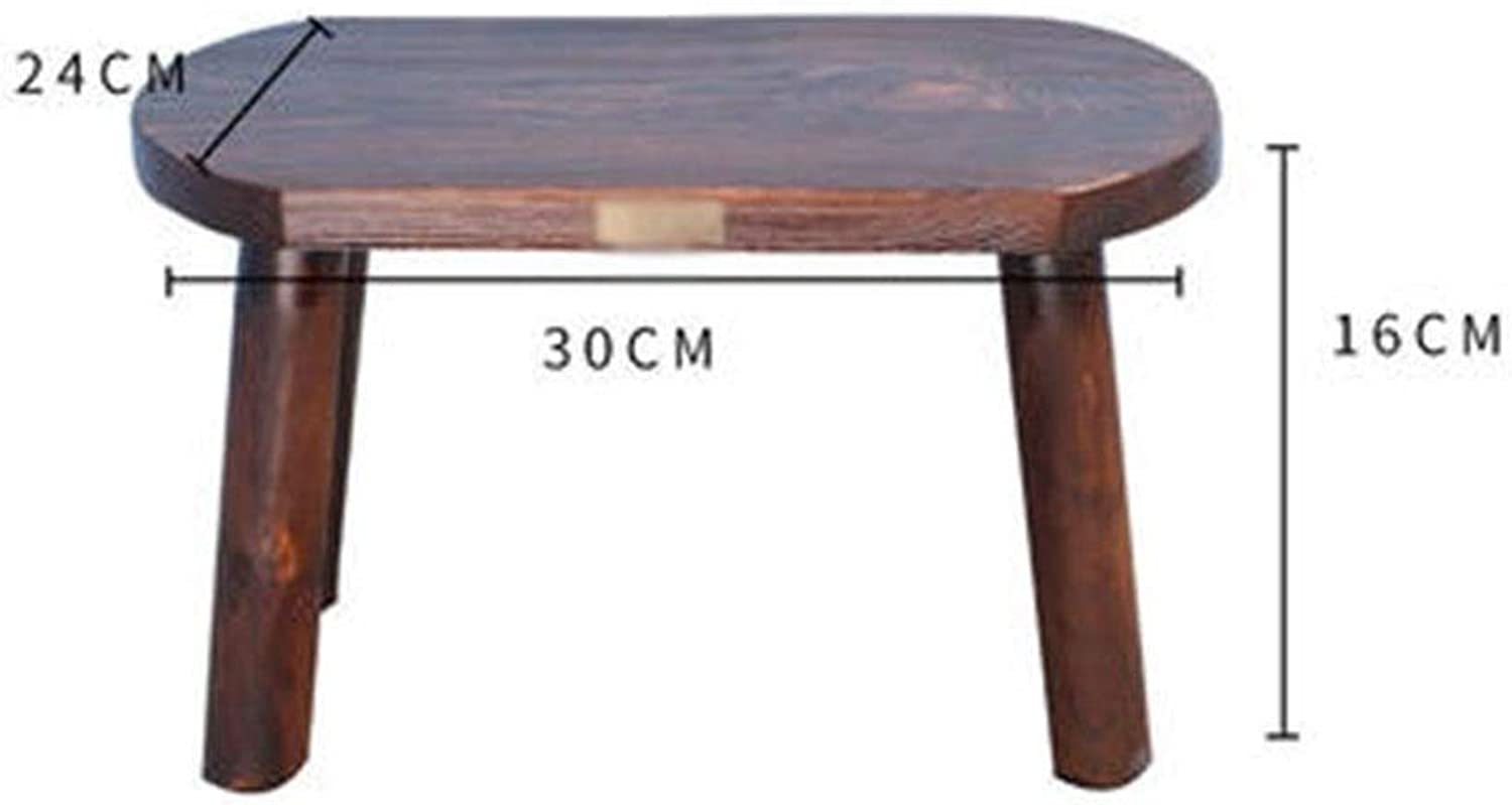 B.YDCM Wooden Bench- Adult Solid Wood Bench Home Stool Small Wooden Bench Wood Low Stool Coffee Table Square Stool - Wood Bench (color   B)