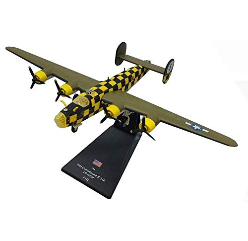 JHSHENGSHI 1 // 144 Scale Fighter Alloy Model, Militär 1944 Konsolidierte B-24D Liberator Adult Sammlerstücke und Geschenke, 9,1 Zoll x 5,5 Zoll