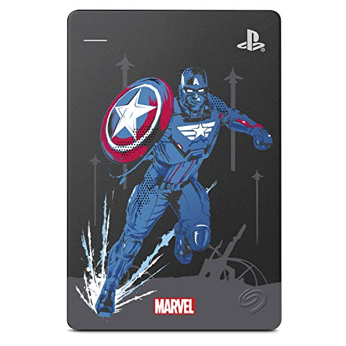 Seagate Game Drive for PS4 - Avengers Special Edition - Captain America - 2 TB Portable External Hard Drive (6.3 cm (2.5 Inch) USB 3.0, PS4) Model Number: STGD2000203