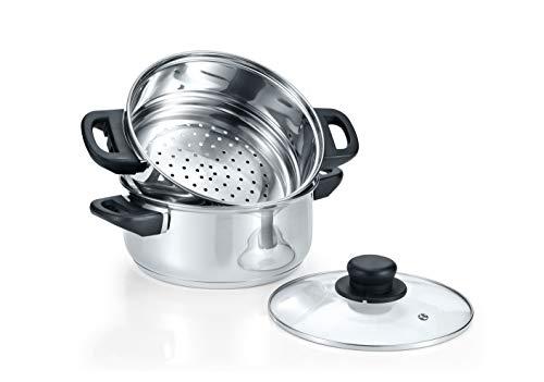CONCORD Juego de 3 utensilios de cocina de acero inoxidable de 3 piezas (compatible con inducción)
