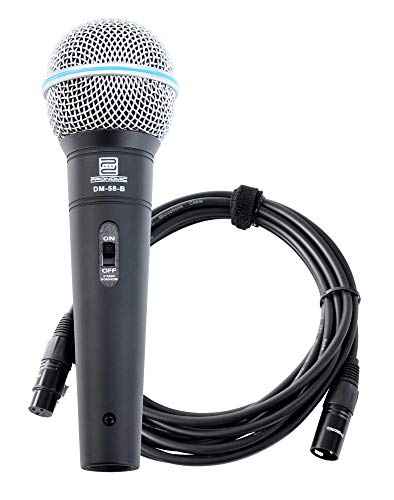 Pronomic DM-58-B Vocal Mikrofon mit Schalter inkl. 5m XLR Kabel mit druckvollem, warmem Klang