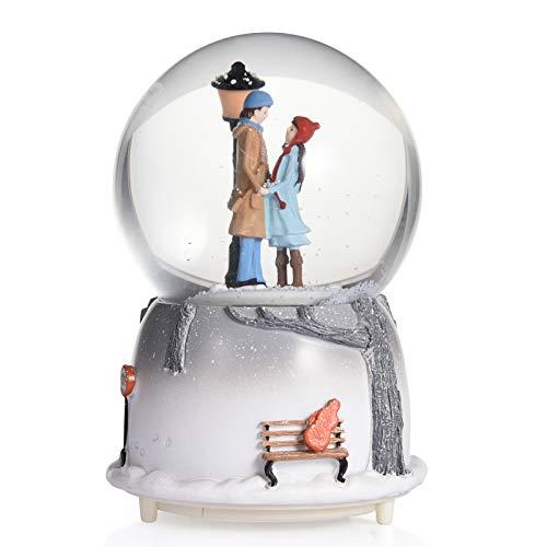 Stecto LED Musical Schneekugel, Musikball, Castle in The Sky Spieluhr, Schneekugel Musikalische Neuheit Nachtlicht Musikalische Schneekugel Spieluhr Desktop Ornament, 10 * 10 * 15 cm