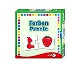 Noris 608985664 Farben Puzzle spielerisches Lernen Reise-und Mitbringspiel, Spielzeug für 1 bis 4 Spieler ab 3 Jahre