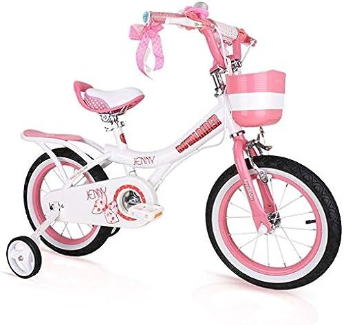 Kinderfürr r Einr r mädchen 2-12 Jahre Alter Kinderwagen Kinderwaage 12-18 Zoll fürrad Radfüren Im Freien Geben Kindern (Farbe   Rosa, Größe   16in)