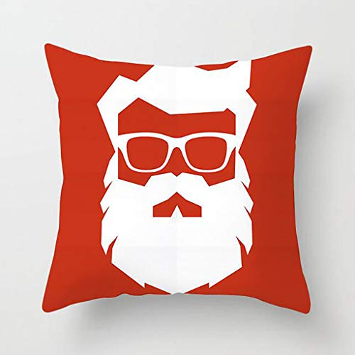 KAIDOU Christmas Lucky Red Series Pillowcase Cotton Linen Sofa Throw Cushion Cover Home Decoration