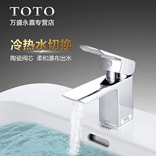 LHbox Toto Waschbecken Waschtisch Waschtisch mit Handwäsche Kalt Wasserhahn DL 327 ER Wasserfall und Wasser, DL 327 ER