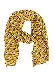 Zwillingsherz Seiden-Tuch im farbfrohem Design - Hochwertiger Schal für Damen Mädchen - Halstuch - Umschlagstuch – Pashmina - Loop - weicher Schlauchschal für Frühjahr Sommer Herbst Winter - gelb