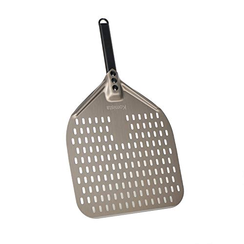 Perforated Pizza Peel 12 Inch Wide, 22 Inch Overall,Outdoor Pizza Oven Accessories