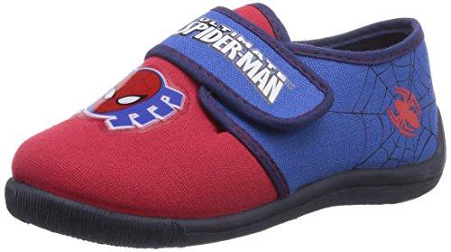 Spiderman Jungen Boys Kids Velcro Low Houseshoes Flache Hausschuhe, Mehrfarbig (483 H.RED/C.Blue/Navy), 28
