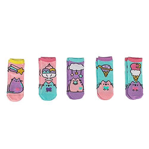 Pusheen The Cat Ankle Socks - Pusheen Ice Cream Polka Dot Designs - 5 Pairs