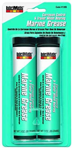 LubriMatic 11399 Marine Trailer Wheel Bearing and Corrosion Control Grease, 3 oz. Cartridge - 2 Pack