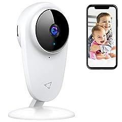 Victure 1080P Baby Telefon med kamera, Baby Monitor 2.4G Wi-Fi kameraövervakningskamera motion detection med Night Vision 2-vägs audio tillgänglig bildskärm baby / äldre / husdjur kompatibel med IOS / Android