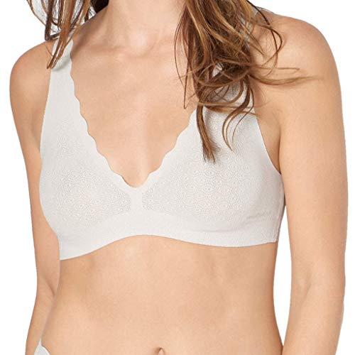 Sloggi Damen Zero Feel Lace Bralette, Weiß (Angora 6308), (Herstellergröße: L)