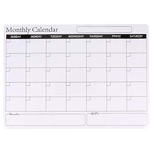 Homoyoyo Tablero de Plan Magnético Borrable Calendario Mensual de Borrado en Seco Tablero de Programación para El Hogar Cocina Nevera Refrigerador Planificador de Menús Recordatorios