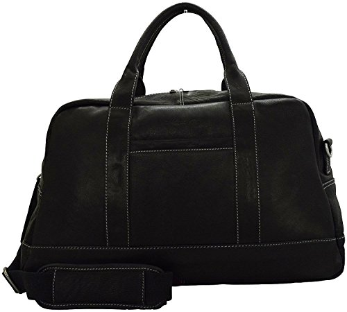 Kenneth Cole Reaction Colombian Leather 20' Duffel Bag-Carry-On Luggage (Black)