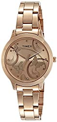 Timex Fashion Analog Brown Dial Women's Watch - TW000T610,Timex,TW000T610