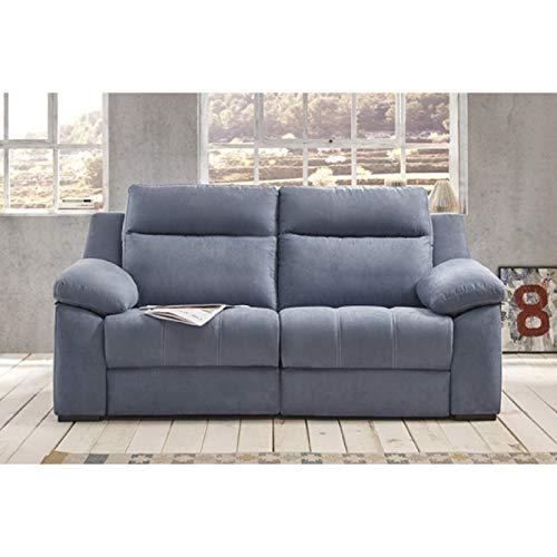 SHIITO - Sofá de 2 plazas Fijo Pedro Ortiz 172cm ELVAS Color Azul Claro