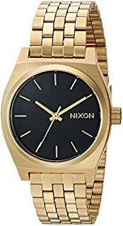 Nixon Women's Medium Time Teller Japanese-Quartz Watch with Stainless-Steel Strap, Gold, 16 (Model: A11302810)