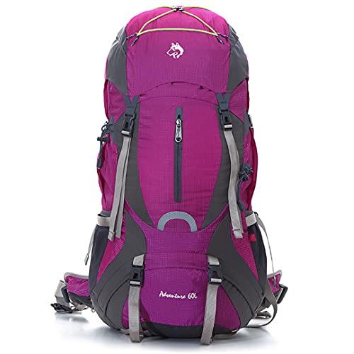Mountaineering Bag Medium-Sized Large-Capacity Breathable Bear Waterproof Heavy-Duty Backpack Purple Color 50-70L