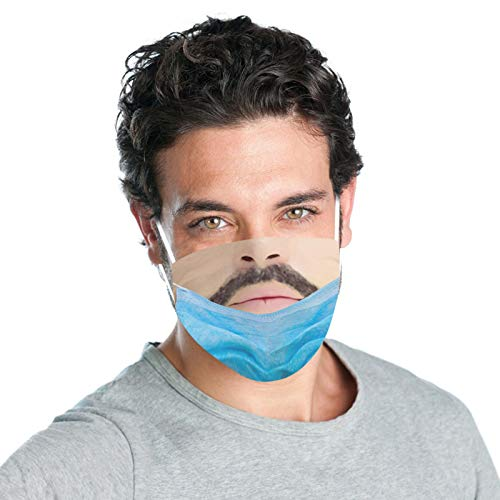 LAIYIFA TIK Tok Funny Fake Face Mouth Shield Camouflage Face Scarf, Soft, Comfortable and Breathable Makeup Props