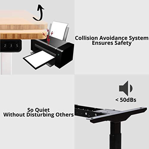 ALLDREI elektrisch stufenlos höhenverstellbarer Schreibtisch Mit Speicher-Steuerung und Erinnerungsfunktion. 4