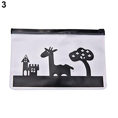 Steelwingsf Maison Portable Stockage Économiseur D'espace, Creative Crayon Stylo Étui Sac Cosmétique en Plastique Transparent Maquillage Pochette Trousse De Toilette Girafe