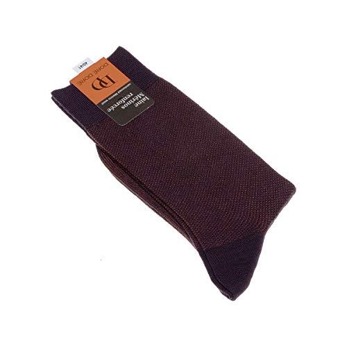 Dore Dore Socke mittelhoch - 1 paar - verstärkte Ferse - Verstarkte zehen - Flachnaht - ohne Frotte - Bunte Spitze - Fine - Laine - Violet - DD - 44/45