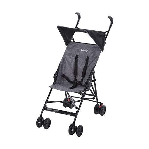 Safety 1st Peps Buggy mit Sonnenverdeck, wendiger Kinderwagen nutzbar ab 6 Monate bis max. 15 kg, kompakt zusammenfaltbar, mit Feststellbremse und 5-Punkt-Gurt, wiegt nur 4, 5 kg, black chic