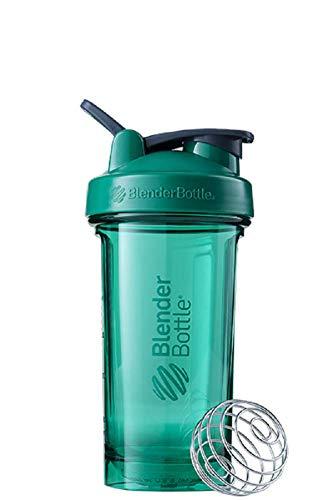BlenderBottle Pro24 Tritan Trinkflasche mit BlenderBall, optimal geeignet als Eiweiß Shaker, Protein Shaker, Wasserflasche, BPA frei, skaliert bis 500 ml, Fassungsvermögen 710 ml, emerald grün