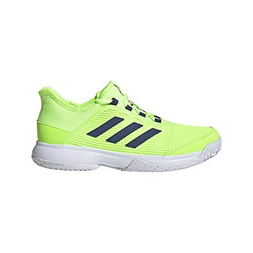 adidas Adizero Club k, Zapatillas de Tenis Unisex niños, VERSEN/FTWBLA/INDTEC, 40 EU