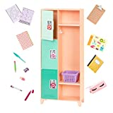 Our Generation- Casillero de Escuela para muñecas, Color, 20 x 8 x 46 cm (Battat BD37913C1Z)