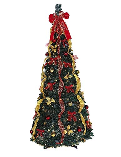 Ben & Jonah Let It Snow Collection 6' 350Lt Pop Gold Tree, Green Red