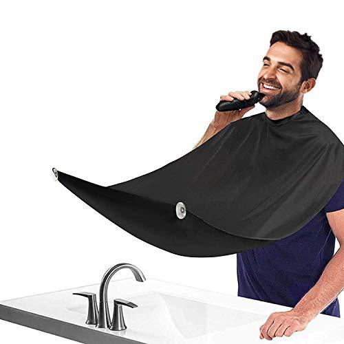 Delantal para barba recortadora de barba, capa para afeitar, impermeable, antiadherente, con 2 ventosas, regalo para hombres