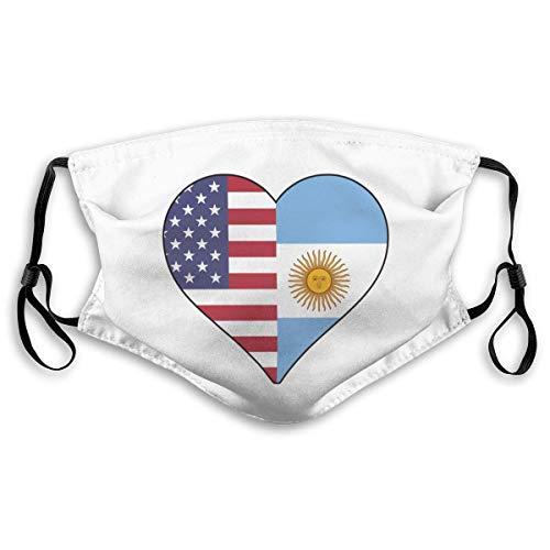 Protección Facial Bandera De Argentina Bandera De EE. UU. Corazón De Amor Bufanda De Boca Ajustable Duradera Compra Unisex Pantalla Facial Personalizada Patrón De Bufanda De Viaje