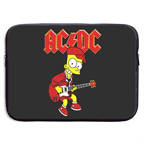 A-C D-C Guitarist Bart Sim-Pson Laptop Sleeve Bag 13/15 Inch Notebook Computer, Water Repellent Polyester Protective Case Cover Theme Design Laptop