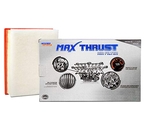 Spearhead Max Thrust Performance Engine Air Filter For All Mileage Vehicles - Increases Power & Improves Acceleration (MT-480)