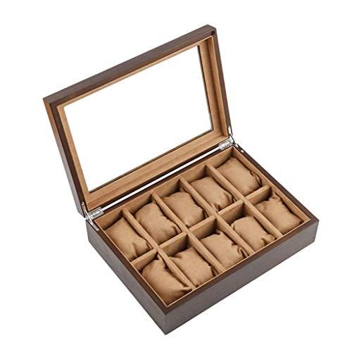 pojhf GYDSSH Anillos de oído de la Caja de almacenaje con Ver a través de Top Caso de exhibición de Accesorios de Almacenamiento Caja de joyería