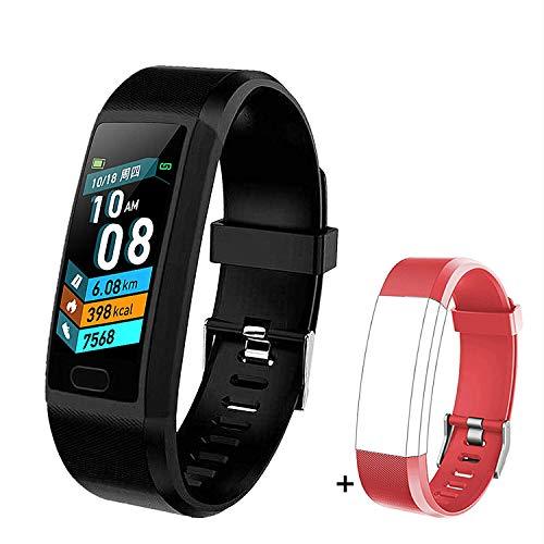LIYINGKEJI Pulsera de Actividad, smartwatch, Monitor de frecuencia cardíaca y Reloj Deportivo de presión Arterial Reloj Inteligente GPS a Prueba de Agua IP67 podómetro Reloj Deportivo