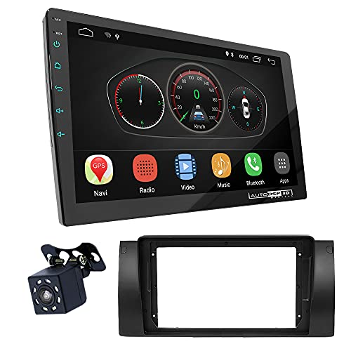 UGAR EX10 9' Android 10.0 DSP Radio Plus 11-041S Kit Fascia Compatible con BMW Serie 5 (E39) 1995-2003; X5 (E53) 1999-2006