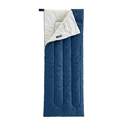 Naturehike - Saco de dormir para adultos de 3 temporadas, 18-25 ℃, ligero, portátil, impermeable, rectangular, saco de dormir para acampar al aire libre, senderismo, mochila (azul marino)