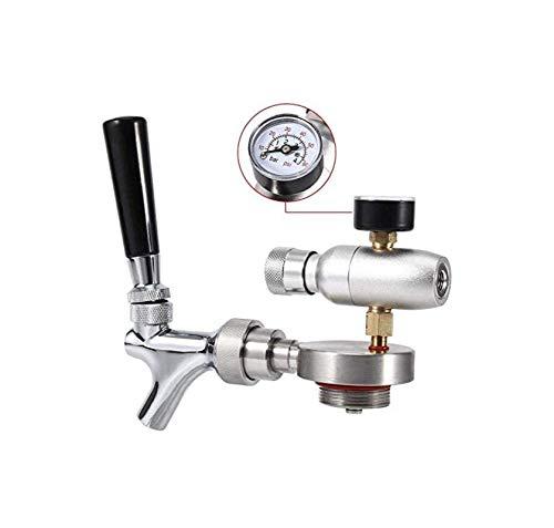 Kit Dispensador De Grifo De Lanza De Cerveza, Inyector De Co2, Grifo De Lanza De Acero Inoxidable, Para Mini Barril De Cerveza De 2L / 3.6L / 4L