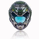 Doomguy Helmet Deluxe Green Mask Visor Halloween Cosplay Costume Prop Adult (Type2)