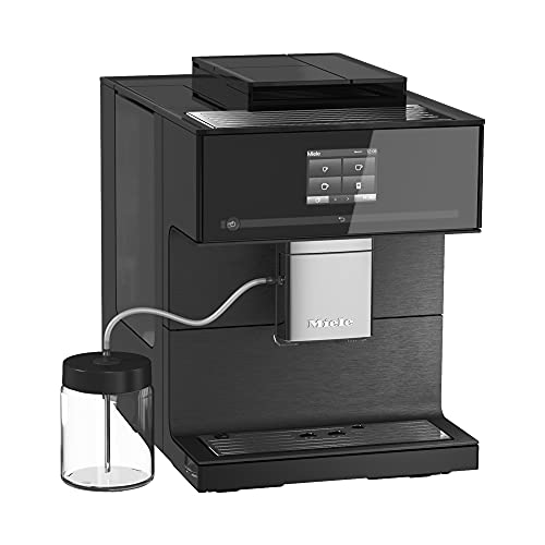 NEW Miele CM 7750 CoffeeSelect Automatic Wifi Coffee Maker & Espresso Machine Combo, Obsidian Black - Grinder, Milk Frother, Cup Warmer, Glass Milk Container, Select From Multiple Beans