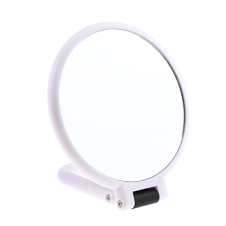 増強する人形技術的なB Blesiya 両面化粧鏡 拡大鏡 ラウンド メイクアップミラー お化粧 ホワイト 5仕様選べ - 5倍