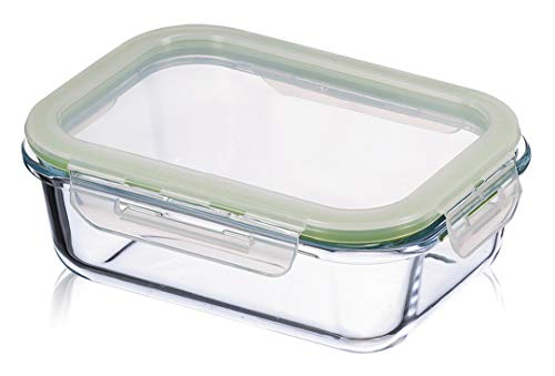 KUHN RIKON Vorratsdosen für Lebensmittel, 1,5 L, umweltfreundlicher Glasbehälter mit Deckel, Frischhaltedosen transparent