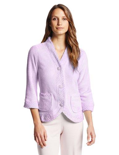 CASUAL MOMENTS Damen Bettjacke mit Klettöffnungen - Violett - Medium