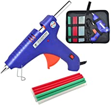 100W Hot Glue Gun With Bag,Household Hot Melt Glue Gun with 15 PCS 11.2mm x 200mm Glue Sticks, Extra Long Aluminum Alloy Nozzle, Compact Storage Carrying Bag for Art, Craft, Sealing, DIY, Home Repairs