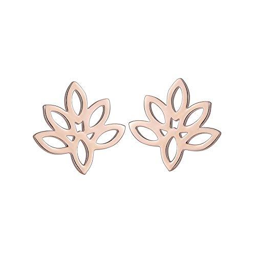 Lege Vrouwen Studs Oorbellen Mooie Plant bladeren metalen Oorbellen Sieraden Oorbellen voor Meisjes Gift