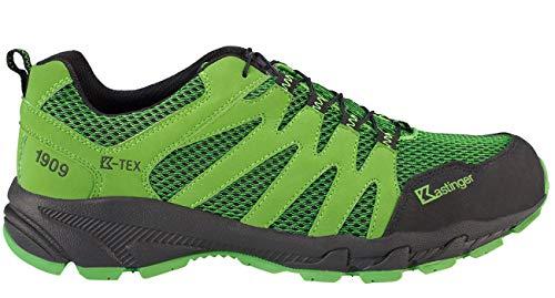 Kastinger Power-Trail,Damen und Herren Trailrunner,Outdoor-Trekkingschuh, K-Tex Membran,wasserdicht,atmungsaktiv,Schnellschnürung,Green,44