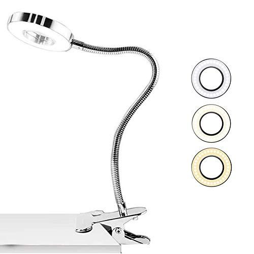 Lámpara e Lectura LED de luz de Libro, lámpara de Lectura USB para Libro (Blanco)